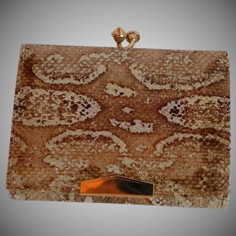 Vintage new never used genuine Snakeskin leather Wallet Made in Argentina