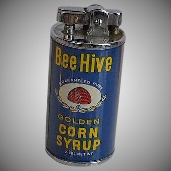 Vintage made in Japan Bee Hive Golden Corn Syrup Advertising Lighter