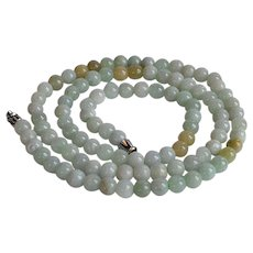 Natural blue green Jade beaded Necklace