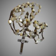 Antique circa 1850 Mother of Pearl Rosary
