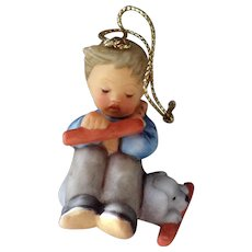 Boebel Berta Hummel 1997 Boy with Dog Bone Christmas Ornament