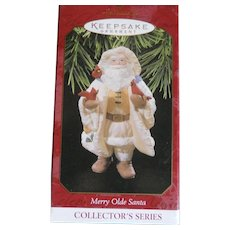 hallmark keepsake, Merry Olde Santa 1997 Christmas ornament. original box