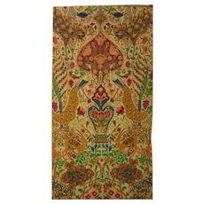 """Antique Persian Tapestry """"Haven"""" Large size, 86 inches"""