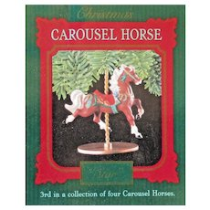 1989 Hallmark Carousel horse star keepsake christmas ornament