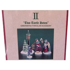 NIB Department Dept 56 heritage village,12 days of dickens, two turtle doves