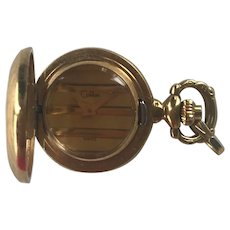 Vintage gold plated Colibri small gold tone pocket watch.