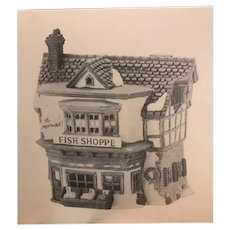 Department 56 Dickens Village Series, The Mermaid Fish Shoppe 5926-9