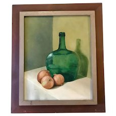 Vintage Oil Painting, Still life. Created 1960's. Signed.