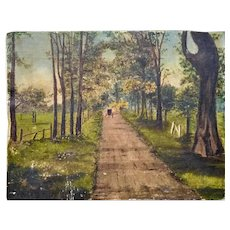 Antique Oil Painting Landscape created in the 1900's very attractive