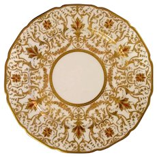 Antique W.Guerin & Co Limoges Porcelain plate with gold & enamel decorated. marked.