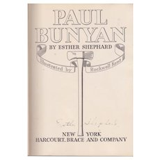 Paul Bunyan, illustrated by Rockwell Kent, signed by author.