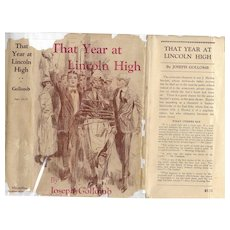That Year at Lincoln High by Joseph Gollomb, 1949 reprint