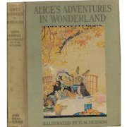 Alice's Adventures in Wonderland illustrated by Gwynedd Hudson, first edition 1935