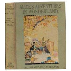 Alice's Adventures in Wonderland illustrated by Gwynedd Hudson,  1935