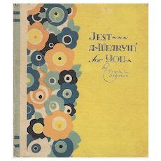 Jest A Wearyin' For You 1926 Gift Book
