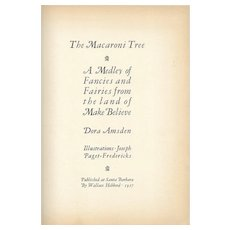 The Macaroni Tree, signed first edition 1927