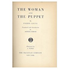 The Woman and the Puppet by Pierre Louys, vintage erotica 1936