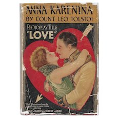 Anna Karenina by Leo Tolstoi,  Rare 1928 Movie Tie-In edition