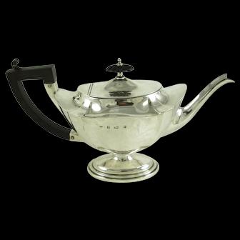 1909 William Aitken Sterling Silver Teapot, Birmingham, England