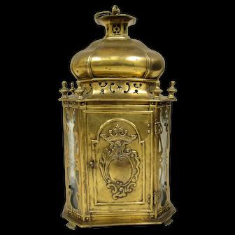 European Brass Oil Table Lantern