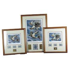 Set of 3 Robert Steiner 2009 Alaska and Oregon Duck Stamp Prints, Limited Governor's Edition, Signed