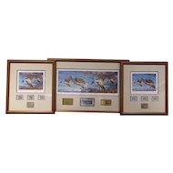 Set of 3 Robert Steiner 2008 Alaska / Oregon Duck Stamp Prints, Signed by Sarah Palin