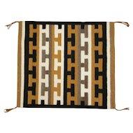 "Navajo Rug Weaving Geometric Inversion ""T"" Pattern"