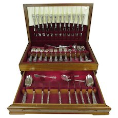 "Gorham Sterling Silver 97 Piece Flatware Set, ""Buttercup"" Pattern, 4393.5 grams"