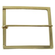 14K Yellow Gold Women's Belt Buckle, Rectangle 1-5/8 x 1-1/2 inches. 8.3 Grams
