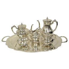Mexican 6 Piece Sterling Silver Tea/Coffee Service
