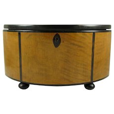 German Art Deco Elliptical Box Made