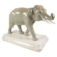 Antique Meissen Porcelain Elephant Animal Figurine