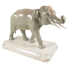 Antique Meissen Porcelain Elephant Animal Figurine