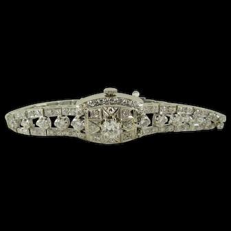 Hamilton Ladies Watch, 14K White Gold and Diamond