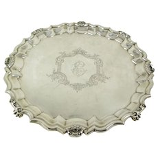 Theodore B. Starr Footed Sterling Silver Tray