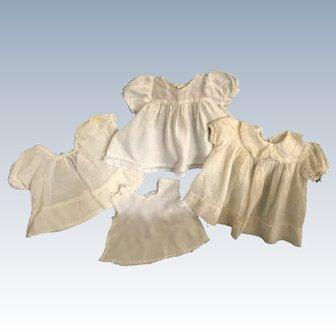 Three Doll Dresses And One Slip