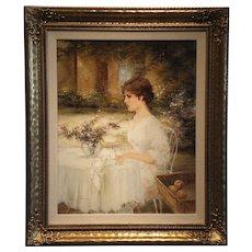 """Lady"" Signed Luigi Rocca Original Oil on Linen"