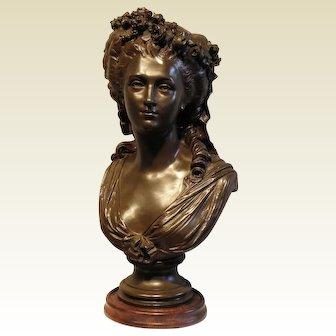 """Princess de Lamballe""-Signed J. Salmson 1873"