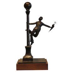"""Singin' in the Rain""-signed Kauin limited edition 1 / 12-©1985-Bronze Sculpture"