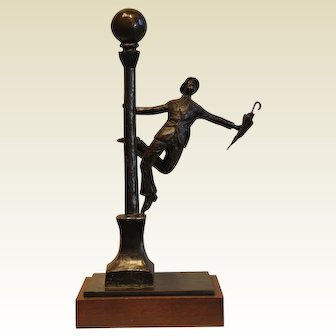 """""""Singin' in the Rain""""-signed Kauin limited edition 1 / 12-©1985-Bronze Sculpture"""