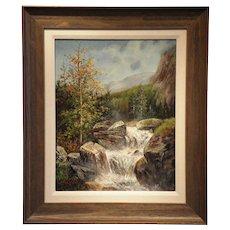 "20""X 16"" Original Oil on Canvas, Titled ""Landscape"" by Artist Bacci Jesus Villaflor (b.1952)"
