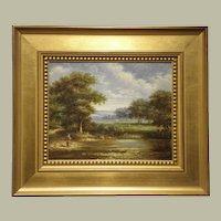 "Decorative quality Original Oil on Canvas- Artist-Gunderson- ""Landscape"""