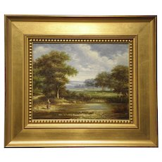 "Decorative quality Original Oil on Canvas- Artist-Gunderson- ""Landscape"""