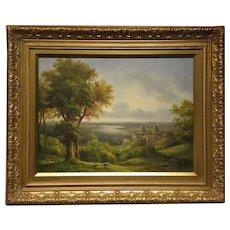 "Decorative quality Original Oil on Canvas- Artist-Gunderson- ""Landscape 2"""