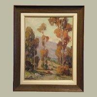 "26"" H x 20"" W Original Oil on Canvas Board artist Frederick W. Becker"