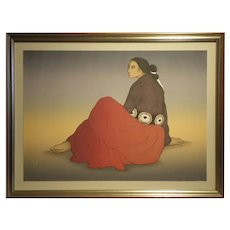 "25""H x 35 1/4"" W, Limited Edition Lithograph Title- ""Concha"".  Artist- Rudolph Carl Gorman (1932 - 2005)"
