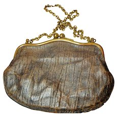 Purse, Vintage, Small Coin, Embossed Leather
