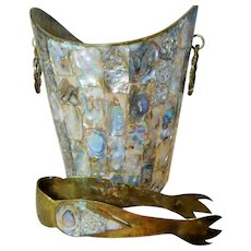 Ice Bucket, Older Vintage, Made in Mexico, Abalone