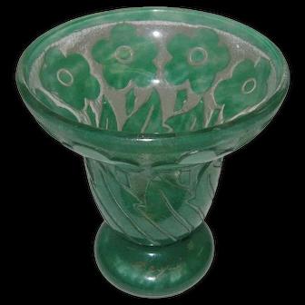Degue Cameo Glass Vase