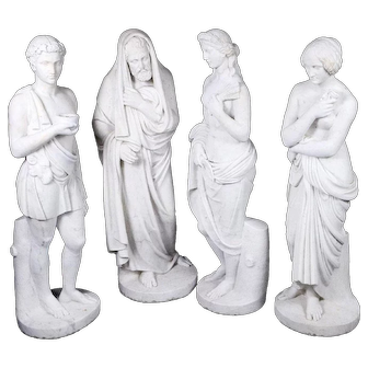 Set of Four Allegorical Marble Statues Representing the Four Seasons